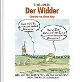 Der Widder: Witziges Cartoon-Geschenkbuch. Lustige Satierkreiszeichen. - Korsch Verlag