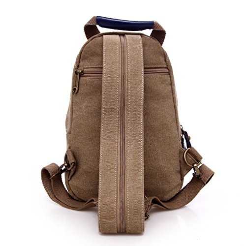 Versione coreana piccolo zaino marea donna petto spalla Baotan multi-funzione double borsa a tracolla, grigio scuro Blue
