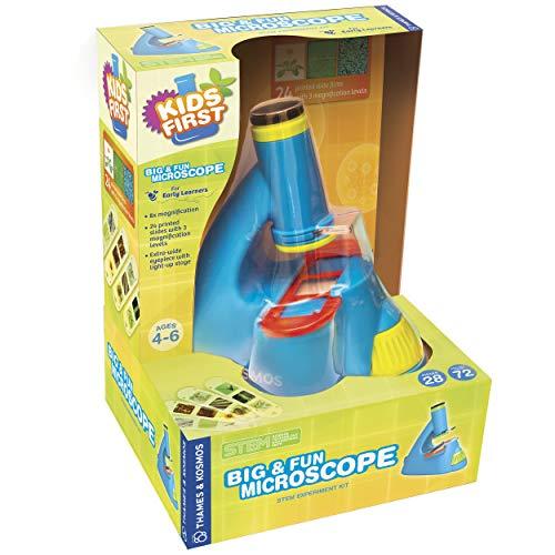 First for Kids 634032 - Kit de experimentos para microscopio Grande y Divertido