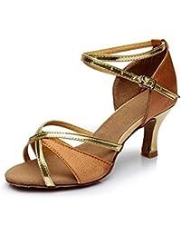 Diamantes de imitación satén Peep Toe zapatos de salón de baile zapatos de baile WsVC1xX