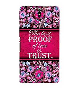 Trust Of Love 3D Hard Polycarbonate Designer Back Case Cover for Sony Xperia C5 Ultra Dual :: Sony Xperia C5 E5553 E5506 :: Sony Xperia C5 Ultra