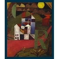 Lein-Wand-Bild Kunstdruck Paul Klee 1919 Schwarze Säulen in der Landschaft