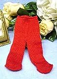 Schwenk Puppenkleidung, Puppen Strumpfhose rot für Pupppen von 30 - 34 cm