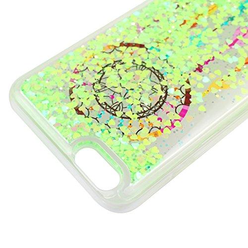 Handyhülle iPhone 6S Treibsand Schale 4.7 Zoll, iPhone 6 Flüssig Hülle, Moon mood® iPhone 6S 6 Durchsichtige Handyhülle 3D Creative Case Mode Bunten Transparente Kristallklaren Sparkly Silikon TPU Wei Stil 13