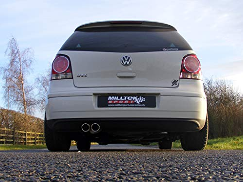 Sport Auspuff Milltek SSXVW108 Anlage ab KAT | DPF (TÜV) - Polo GTI (132 kW /180 PS) | HSN: 0603 | TSN: AKQ | Polo IV GTI (9N) 3-Türer Schrägheck Cup