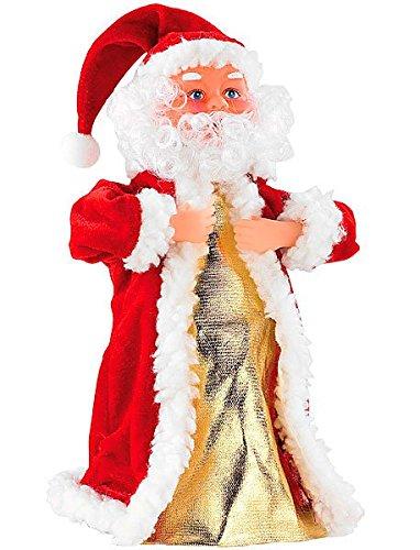 Decorazione natalizia a forma di babbo natale che canta e balla incl. cd