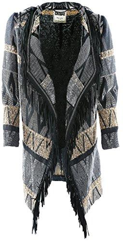 White Label Damen Mantel Größe 46 Schwarz (schwarz)