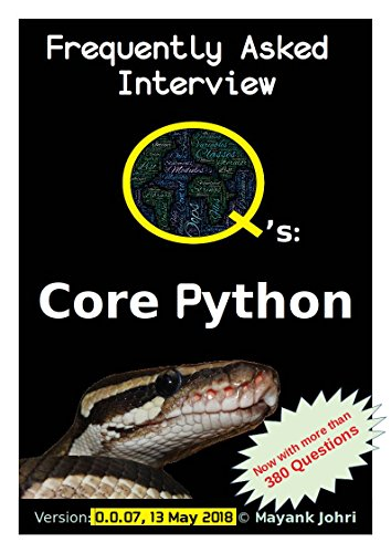 eBooks For Ipad Frequently Asked Interview Questions : Core Python
