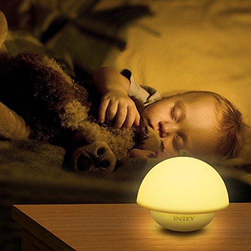 Intey LED Nachtlicht Kinder mit RGB Stimmungslicht