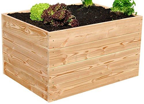 Vert Jardin de plate-bande surélevée OQ eolw 85bw, naturel, 100 x 75 x 60 cm, gghbh4