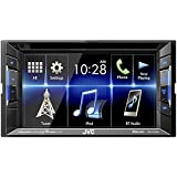 JVC KW-V130BT Double DIN BluetoothA In-Dash DVD CD AM FM Car Stereo w 6.2 Clear Resistive Touchscreen