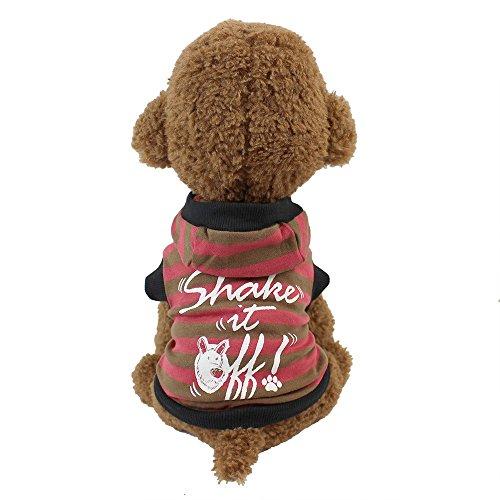 Haustier Katze Hund Pullover,Kapuzenpullover Warme T-Shirt Kleidung im Herbst und Winter,für Kleine Hunde,Welpen,Schnauzer, Teddy,Pudel,Chihuahua (Kaffee, XS) -