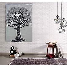 Hecho a mano Árbol de la vida Tapiz Pegatinas de pared Decoración para el hogar Decoración