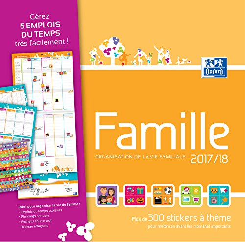 Oxford 1 calendrier planning mural familiale sept 2017 for Planning mural 2017