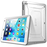 SUPCASE Apple iPad Mini 4 Hülle mit eingebautem Displayschutz, Weiß/Grau