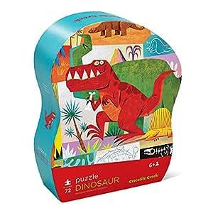 Crocodile Creek 384215-7 Puzzle für Kinder, Design: Dinosaurier, 72-teilig, Größe Puzzle: 35x48 cm