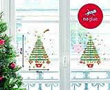 Nouvelles Images Nuove Immagini Adesivi Design Albero di Natale Decorato con Cima, polivinilcloruro,, 36x 24x 0,02cm