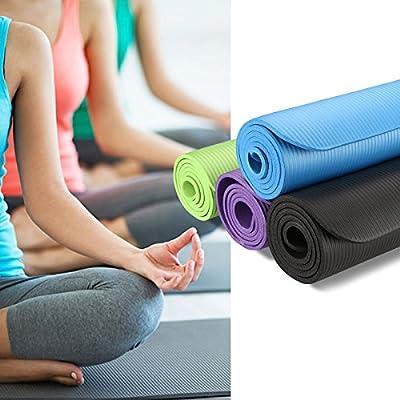 Finether Gymnastikmatte, Yogamatte, phthalatfrei Fitnessmatte Trainingsmatte Gymnastikmatte Pilates Sportmatte Bodenmatte Gymnastik schwarz