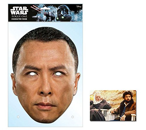 Chirrut Imwe Rogue One: A Stars Wars Single Karte Partei Gesichtsmasken (Maske) Enthält 6X4 (15X10Cm) starfoto