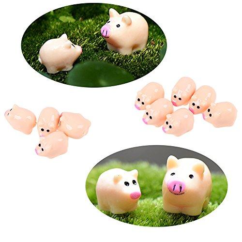 ments, wcic Miniatur-Tier Pflanzen DIY Crafts Fairy Garden Decor Pig*10 (Pig-craft)