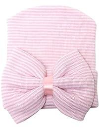Bonnet Pour Bébé Fille Nouveau-né Chapeau Noeud Papillon à Rayures
