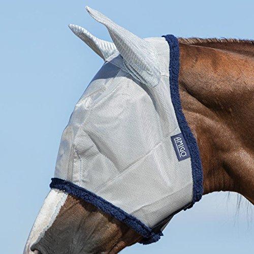 Horseware Amigo Fliegenmaske mit Ohren, Baby Blue/navy