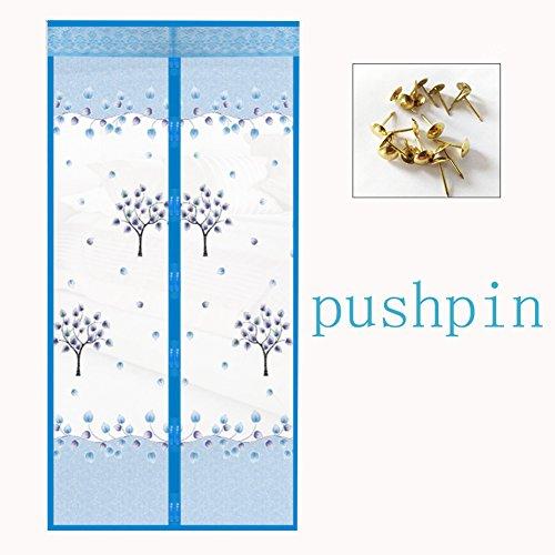 Sommer Moskitonetz zum aufhängen Magnetische Velcro Fliegengitter,Mesh Vorhang Für Home Garten Terrasse Full-frame velcro Versenkbare-A 95x200cm(37x79inch)
