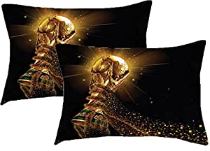 Sleep Nature's Sports Printed Pillow Cover Size-(18 x 27 inches)