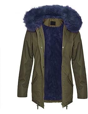 Chaqueta de mujer Brave Soul Parka abrigo con capucha Sherpa Forro Polar Invierno Nuevo