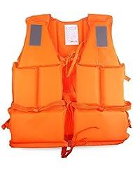 Naranja Adulto chaleco salvavidas Chaleco de natación Surf Live Aid mar vela boating esquí Whistle chaleco salvavidas