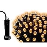 LED Lichterkette, 24 LED, 1,7m, schwarzes Kabel