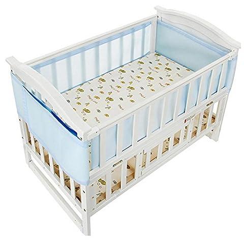 Little World Breathable Mesh Crib Bumper Liner Set - Light Blue