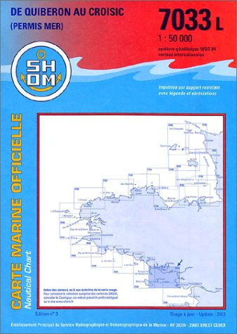 Carte marine : De Quiberon au Croisic
