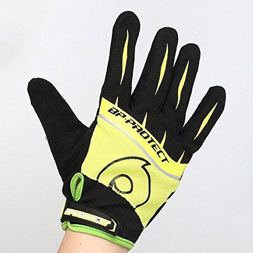Kranich Montage Alle Finger Fahrrad Handschuhe Sport von Männern und Frauen Shock Atmung Schweiß Abdeckung Handschuh m Gelb (Boxhandschuh Schweiß)