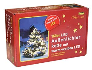 Idena 8325062 Led- Lichterkette 160-er außen warm weiss