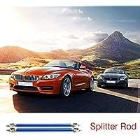 Footprintse 2pcs universal coche delantero trasero parachoques Lip Splitter Varillas de soporte ajustable (Color: azul) (Tamaño: 20 cm)