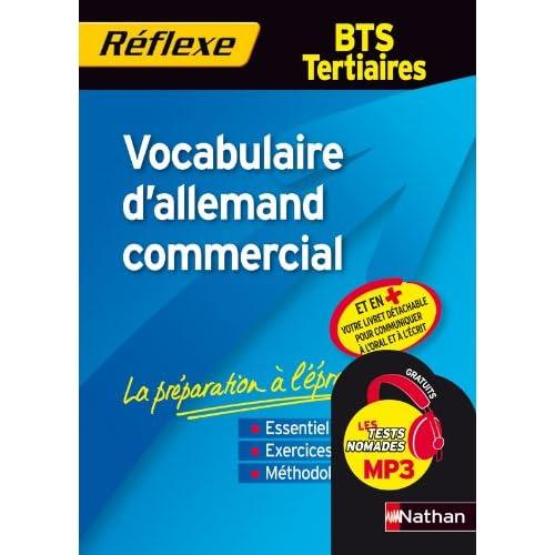 Vocabulaire d'allemand commercial - BTS Tertiaires