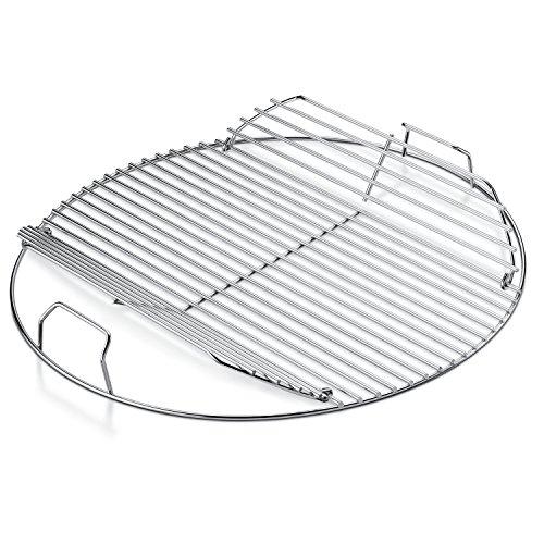 Soin 17436 Grill en acier inoxydable Compatible avec les Grills Weber gris 22,5 cm