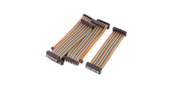 6Stk 2,54mm Tonh/öhe 26 Pin 26 Wege F//FIDC Flach Flachbandkabel Flachkabel 15cm DE de