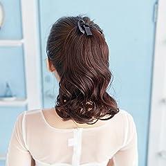 Idea Regalo - capelli corti/Benda-stile realistica coda coda di cavallo del m-breve volume/piece Parrucca corta-A