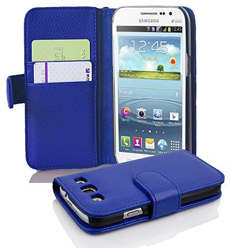 Cadorabo Hülle kompatibel mit Samsung Galaxy Win Hülle in KÖNIGS BLAU Handyhülle mit Kartenfach aus struktriertem Kunstleder Case Cover Schutzhülle Etui Tasche Book