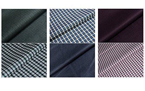 Kundan Sulz Gwalior Men\'s Shirts Pants Fabric (Set of 3 Shirt and Pant Pieces )