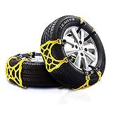 HECHEN Tragbare Auto Schneeketten, 6-TLG. Anti-Rutsch-Schneeketten für Reifen Leicht zu montierende Not-Traktions-Auto-Schneeketten Universal für Reifen mit Einer Breite von 165 bis 275 mm