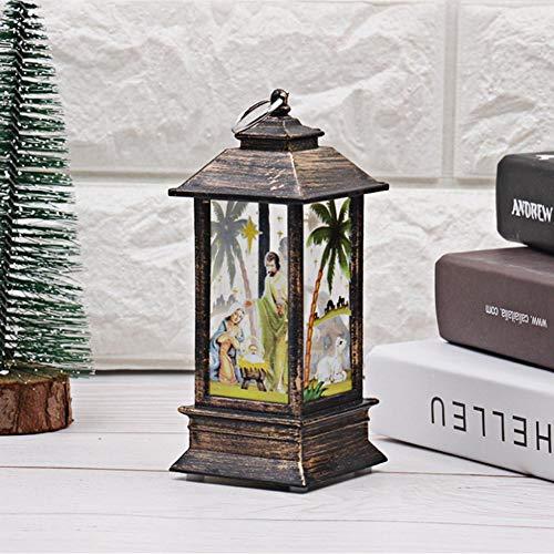 ternen - Simulation Flammen-Lichter Tisch-Flammen-Lampe Flammen-Lampe für Outdoor, Camping, Öl-Lampe, Simulation Halloween, Weihnachten, dekoratives Licht Jesus ()