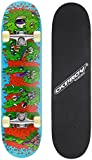 Osprey Complete Beginners Double Kick Trick Skateboard, 31 x 8 Inches Maple Deck