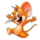 Ecusson - Tom & Jerry Jerry souris comique enfants - brun - 7,8x6,8cm - by catch-the-patch patches brode appliques embroidery thermocollant