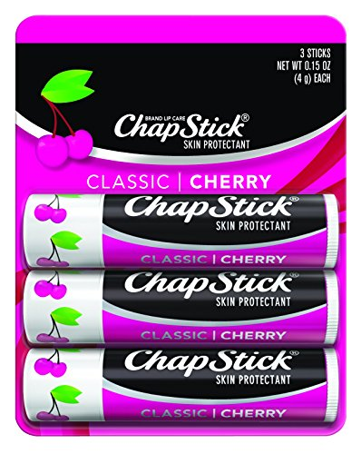 Chapstick Classic Lip Balm With Cherry Flavour - 3 Ea / Pack