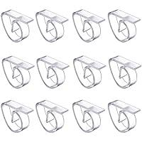 Chytaii 12pcs Pinza de Mantel de Plástico Clip de Mantel Plástico Clips de Paño Cubierta de Mesa Transparente