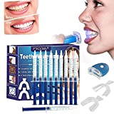 Teeth Whitening Kit,Zu Hause Professionelle Zahnaufhellung Set, Zahnaufhellungs-Set,Zahnweiß-Bleichsystem,Home Bleaching Kit,Wiederverwendbares,10x Teeth Whitening 2x Dental Trays Gel Kit & Laserlicht