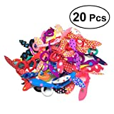 #5: 20pcs Lovely Bunny Ear Hair Tie Ropes Bands Ponytail Holders for Girls